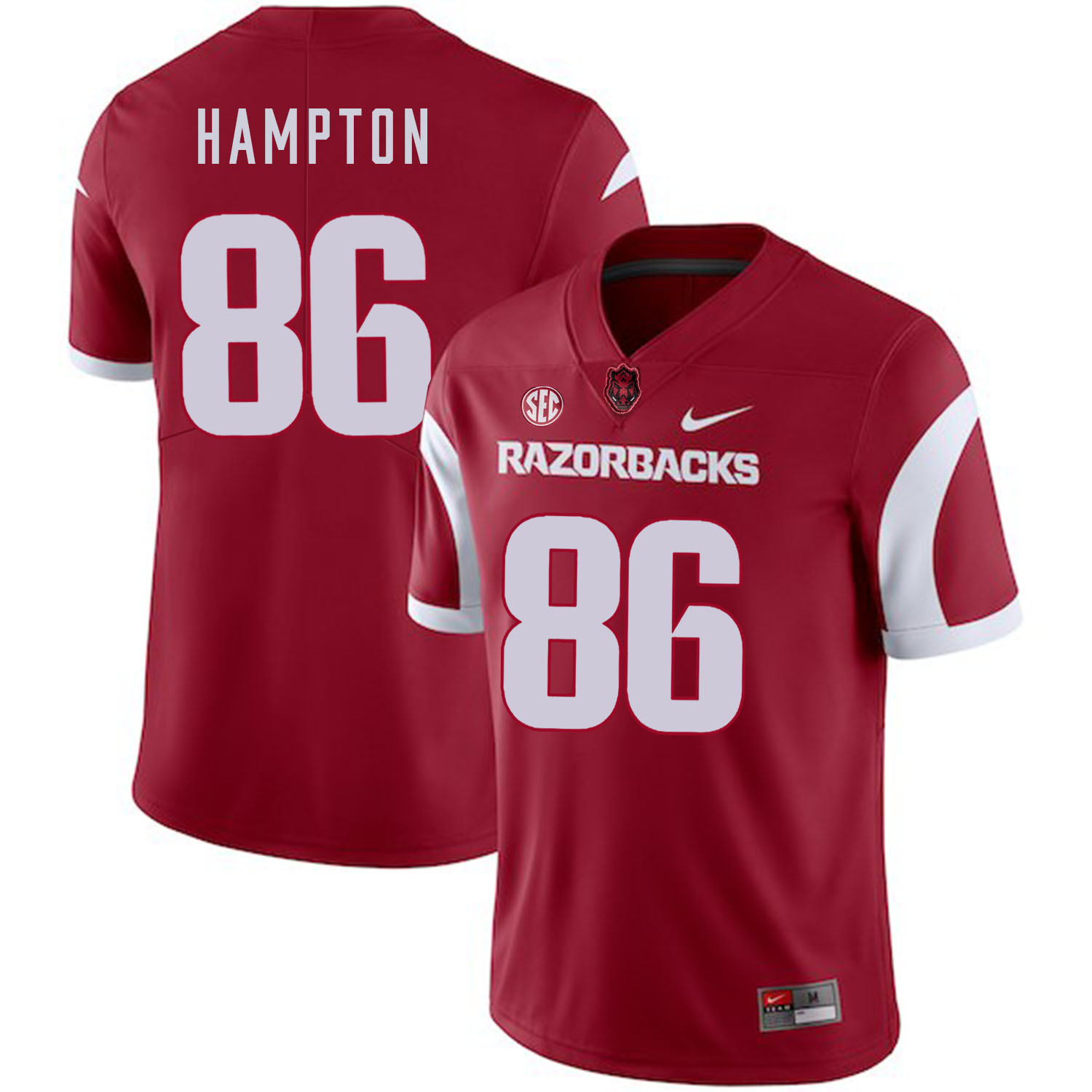 Arkansas Razorbacks 86 Dan Hampton Red College Football Jersey