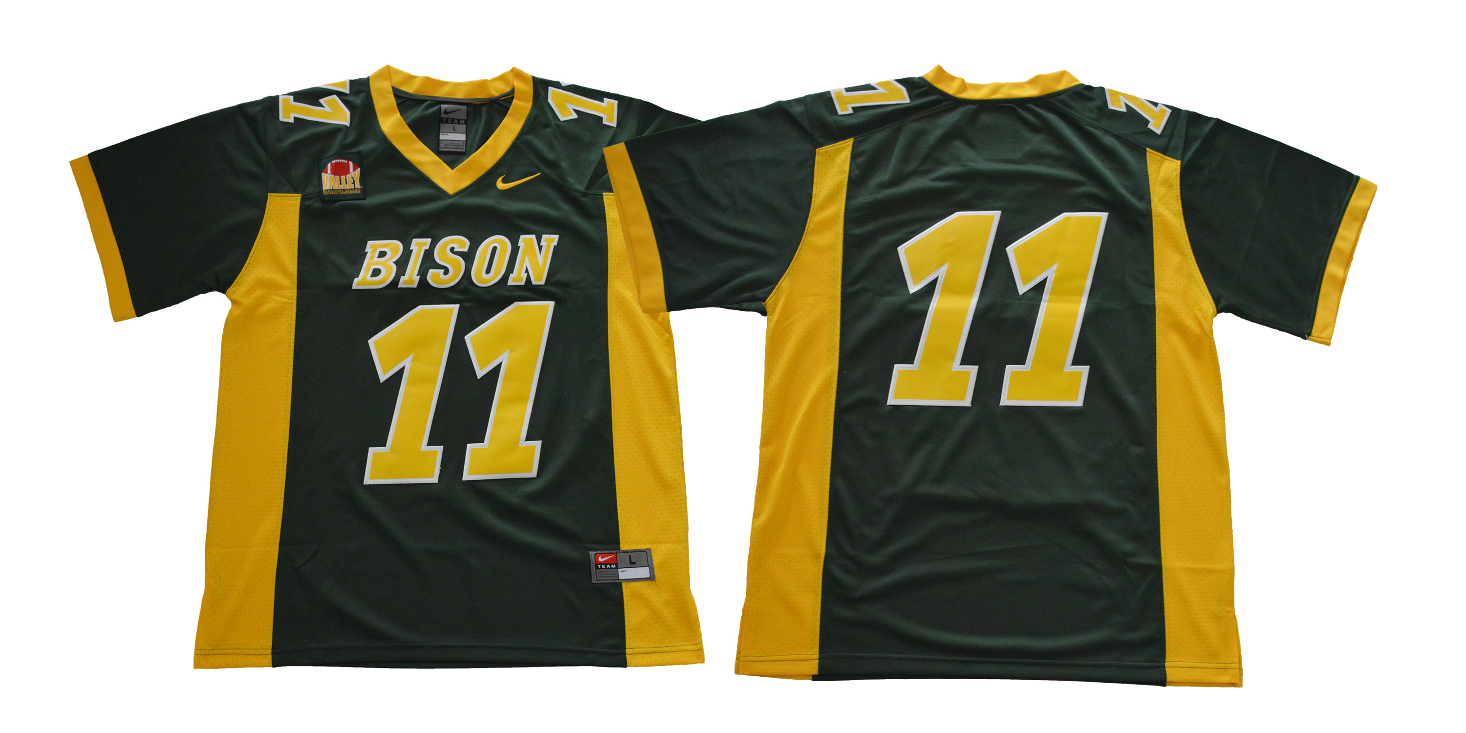 North Dakota State Bison #11 Green College Football Jersey