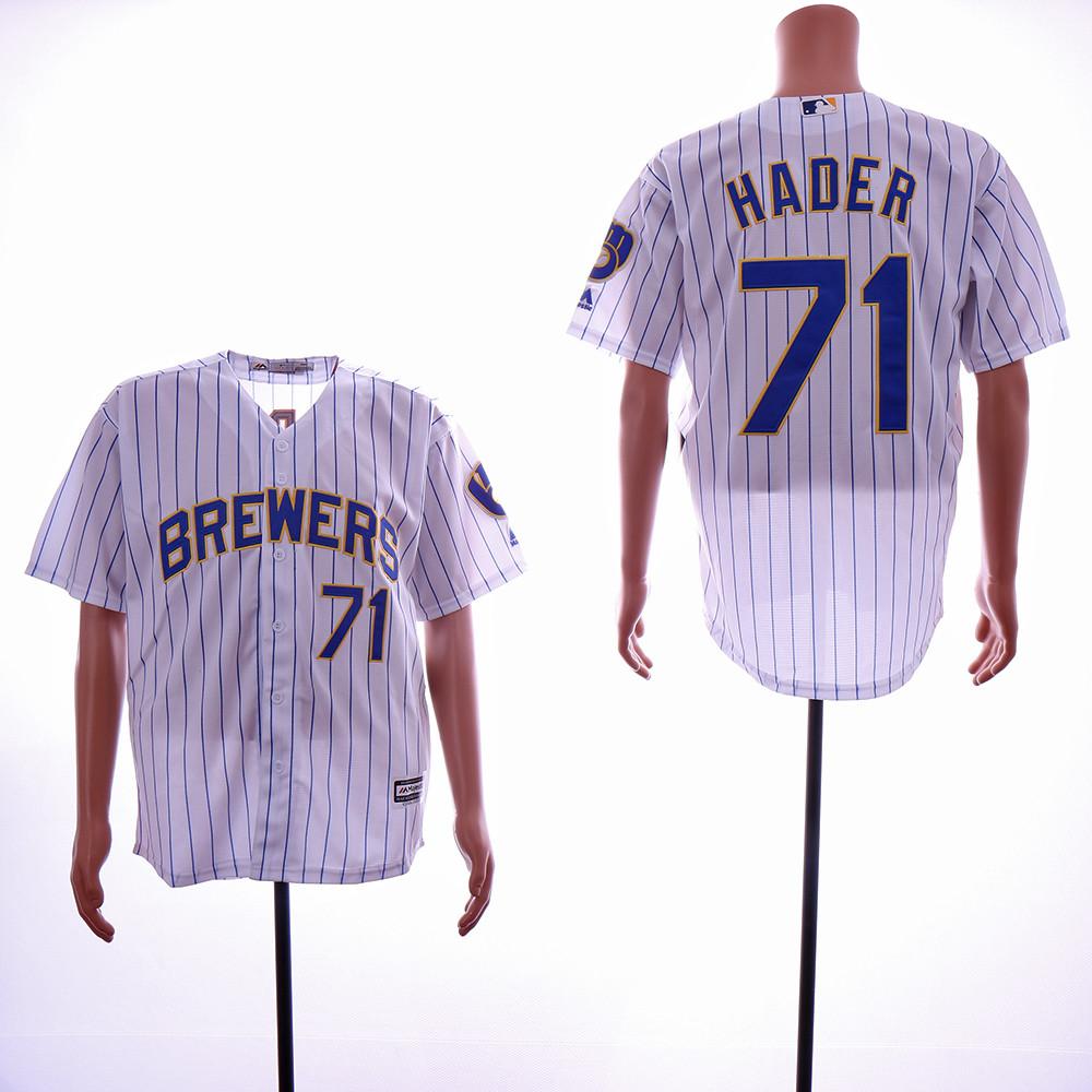 Brewers 71 Josh Hader White Cool Base Jersey