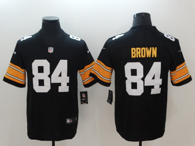 Nike Steelers 84 Antonio Brown Black Alternate Vapor Untouchable Limited Jersey