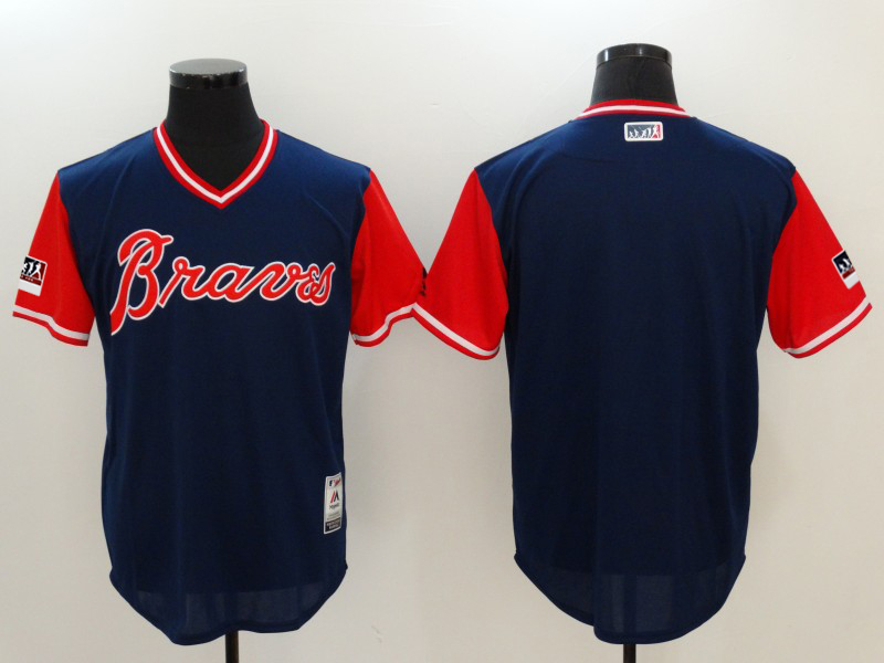 Braves Navy 2018 Players' Weekend Authentic Team Jersey