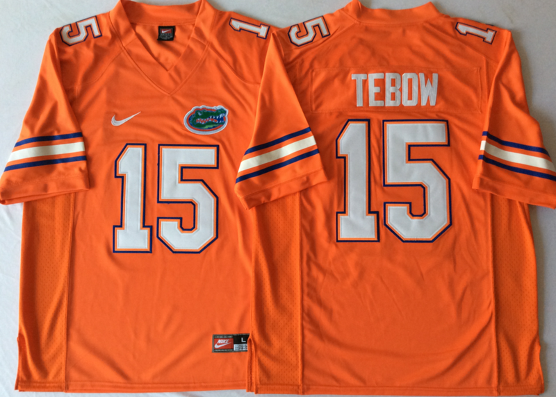 Florida Gators 15 Tim Tebow Orange College Football Jersey