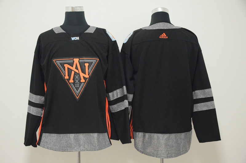 North America Blank Black World Cup of Hockey 2016 Premier Player Jersey
