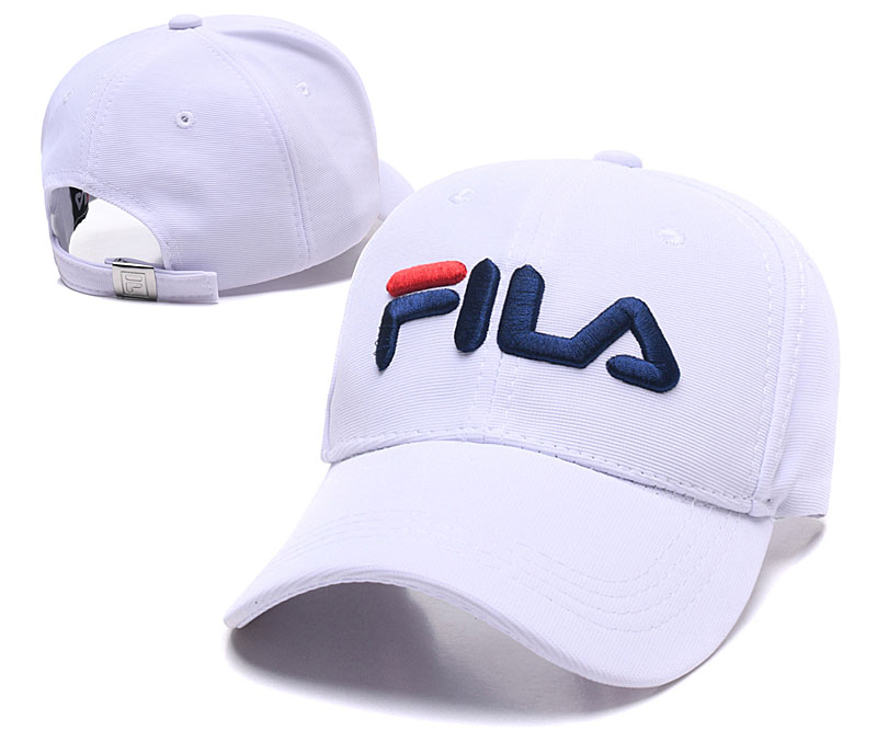 Fila Classic White Sports Peaked Adjustable Hat SG