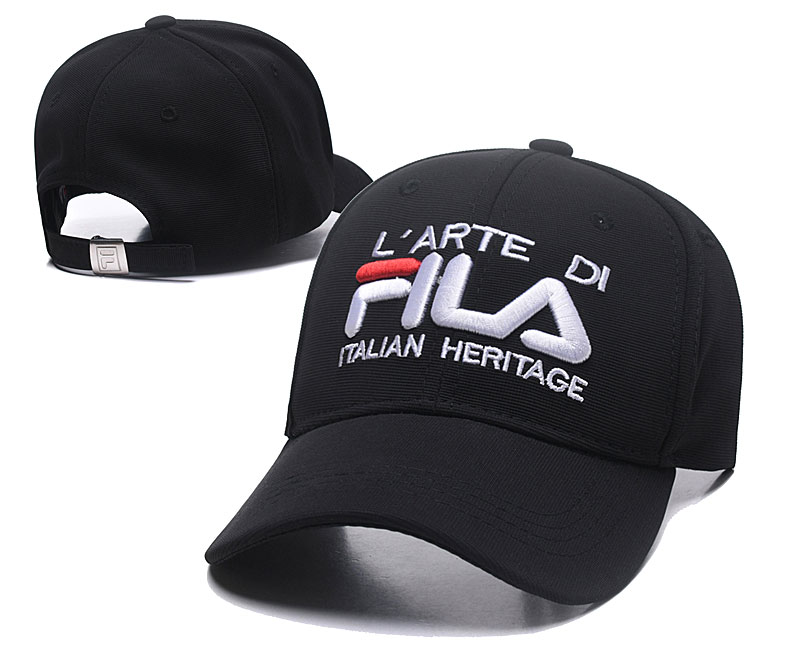 Fila Italian Heritage Black Sports Peaked Adjustable Hat SG