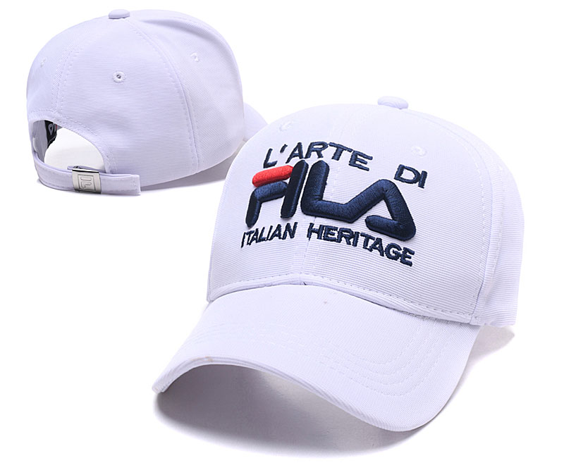 Fila Italian Heritage White Sports Peaked Adjustable Hat SG
