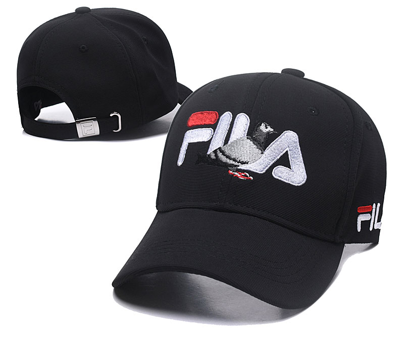 Fila Staple Black Sports Peaked Adjustable Hat SG