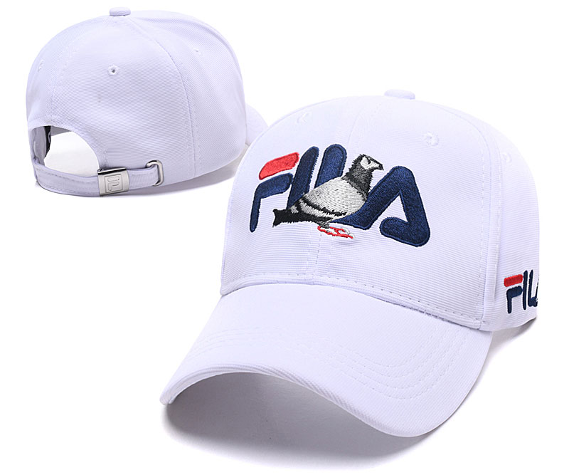 Fila Staple White Sports Peaked Adjustable Hat SG
