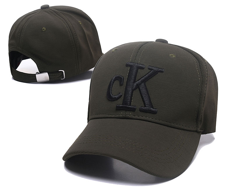 CK Fresh Logo Olive Fashion Peaked Adjustable Hat SG