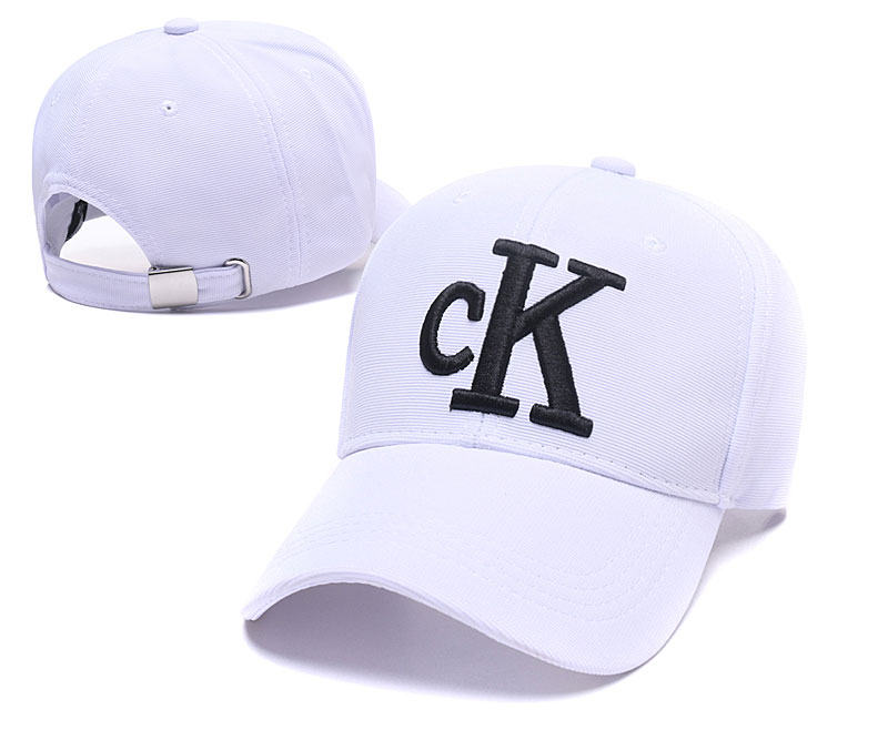 CK Fresh Logo White Fashion Peaked Adjustable Hat SG