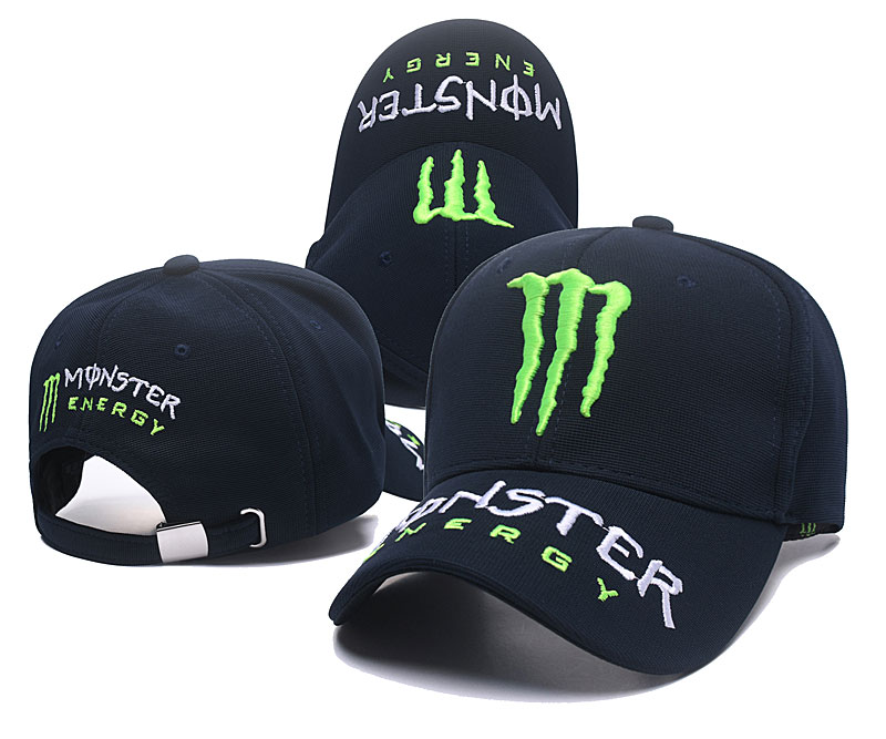 Monster Energy Navy Peaked Adjustable Hat