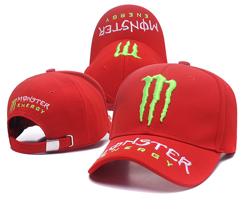 Monster Energy Red Peaked Adjustable Hat