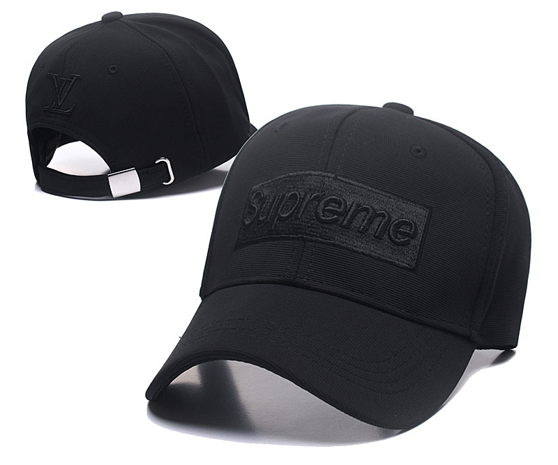 Supreme Fresh Logo Black Fashion Adjustable Hat SG