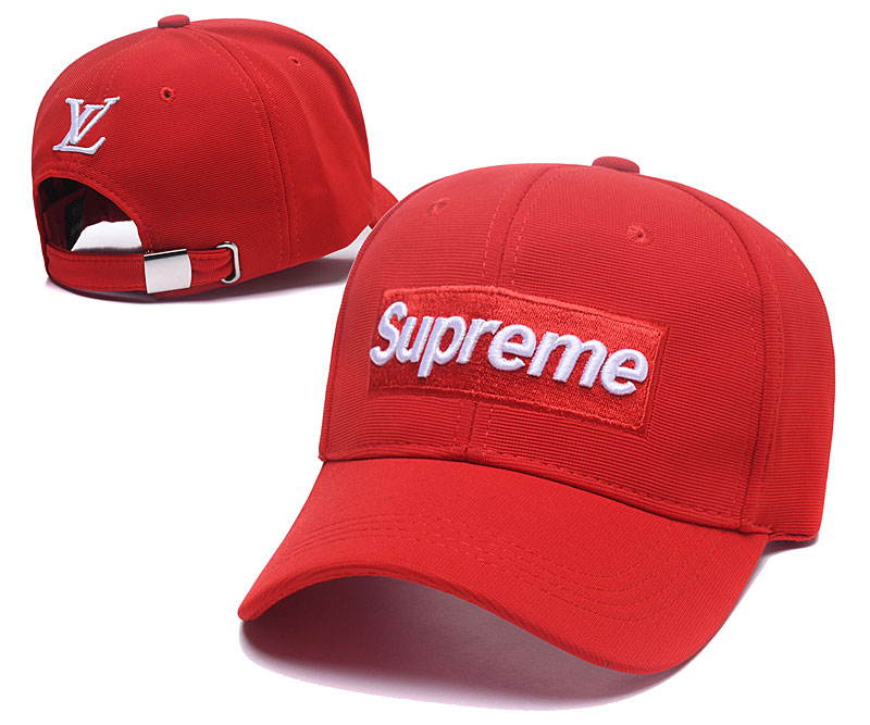 Supreme Fresh Logo Red Fashion Adjustable Hat SG