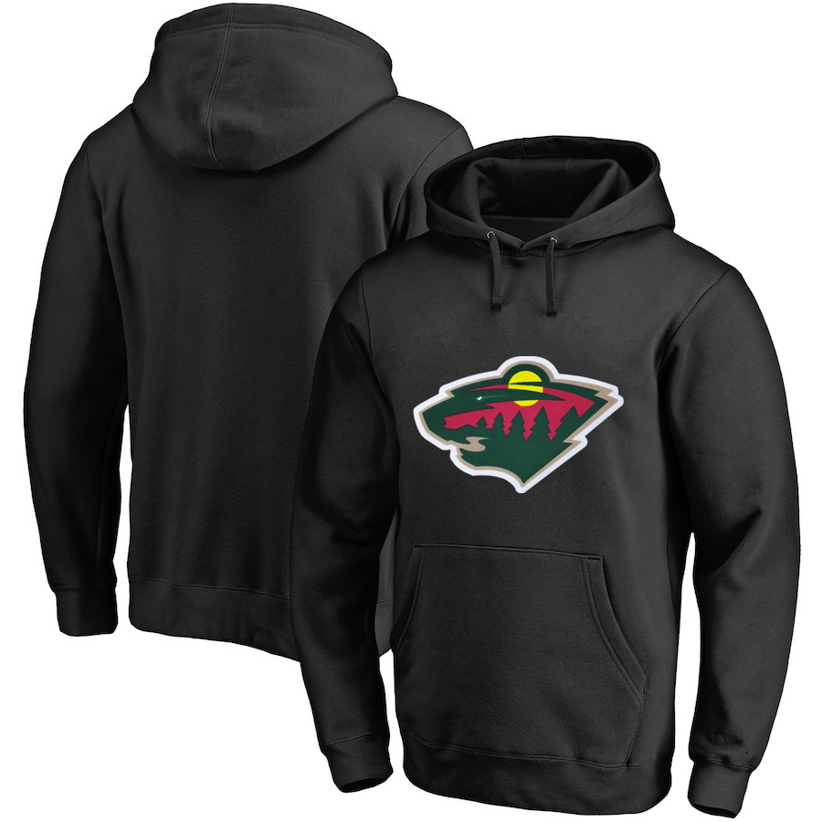 Winnipeg Jets Dark Black Men's Customized All Stitched Pullover Hoodie