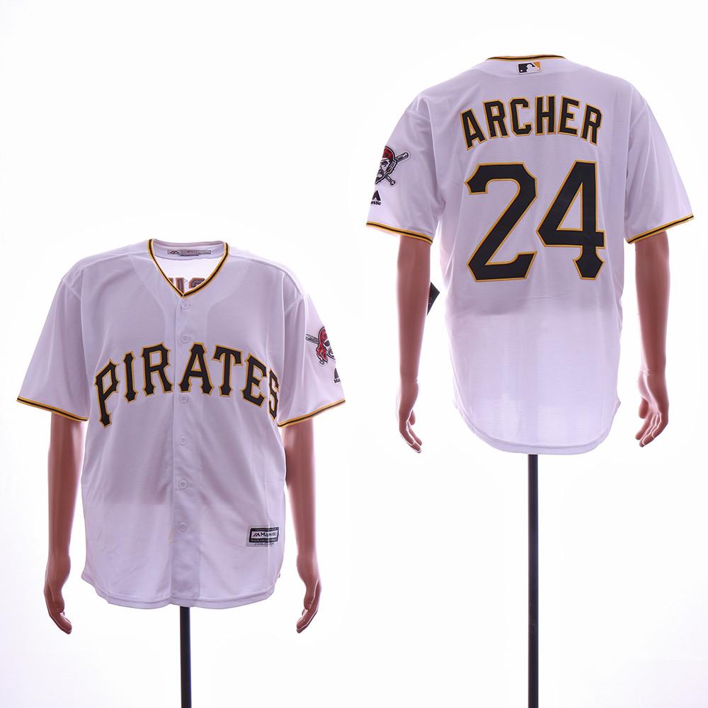 Pirates 24 Chris Archer White Cool Base Jersey