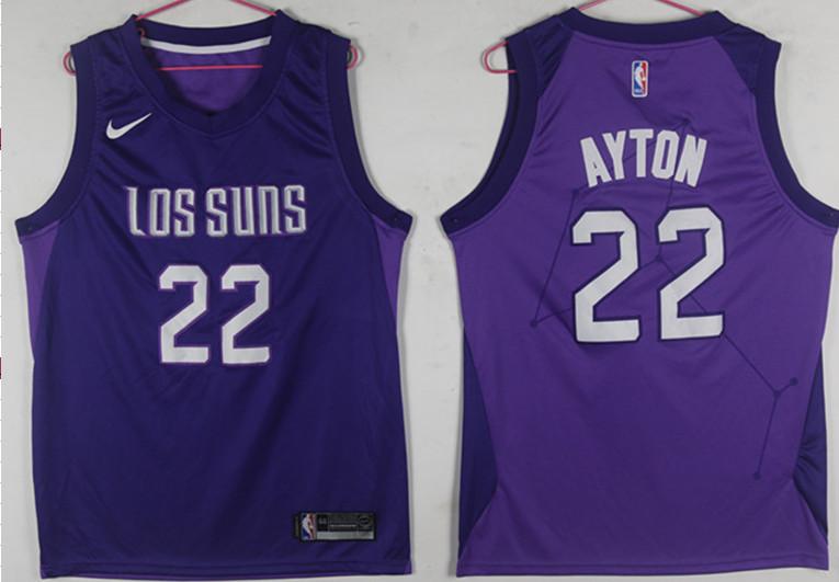 Suns 22 Deandre Ayton Purple City Edition Nike Swingman Jersey