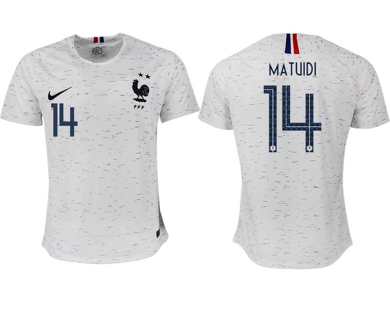 France 14 MATUIDI Away 2018 FIFA World Cup Thailand Soccer Jersey