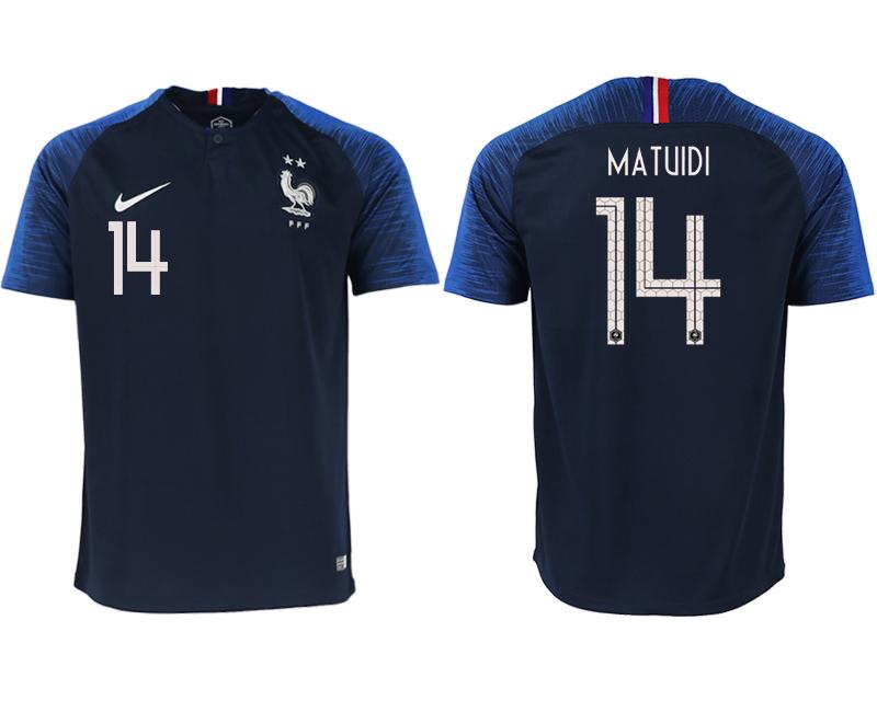France 14 MATUIDI Home 2018 FIFA World Cup Thailand Soccer Jersey