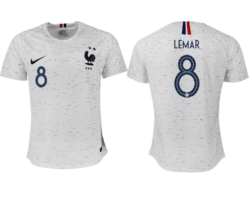 France 8 LEMAR Away 2018 FIFA World Cup Thailand Soccer Jersey
