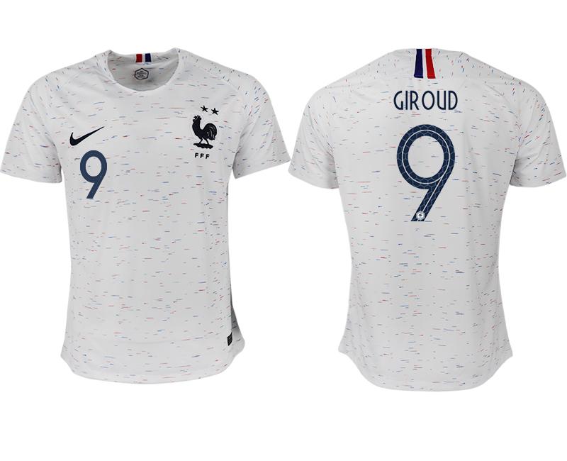 France 9 GIROUD Away 2018 FIFA World Cup Thailand Soccer Jersey