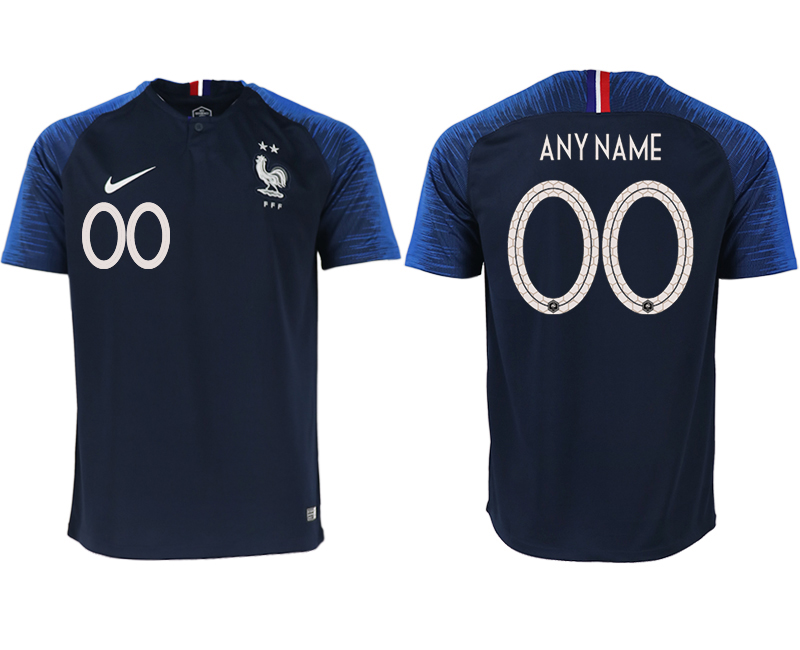 France Customized Home 2018 FIFA World Cup Thailand Soccer Jersey