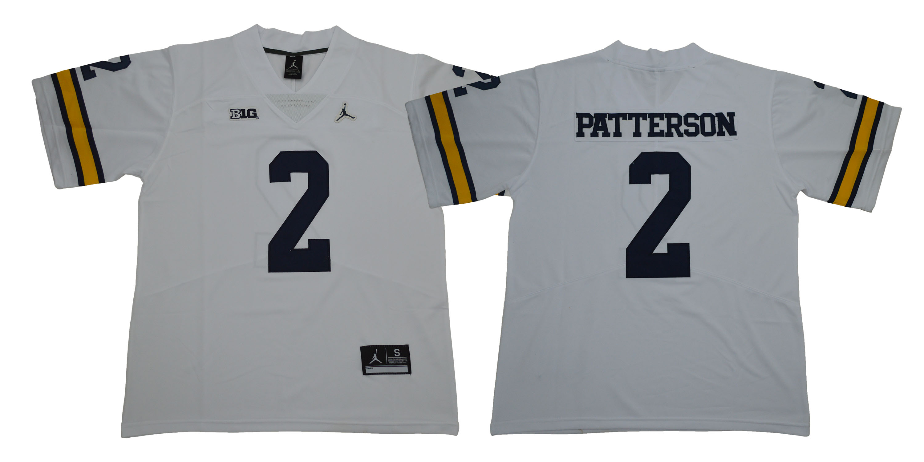 Michigan Wolverines 2 Shea Patterson White College Football Jersey