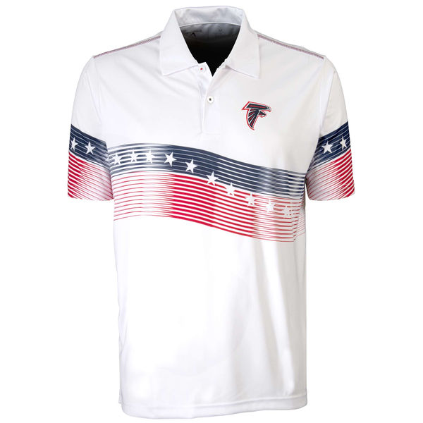 Antigua Atlanta Falcons White Patriot Polo Shirt