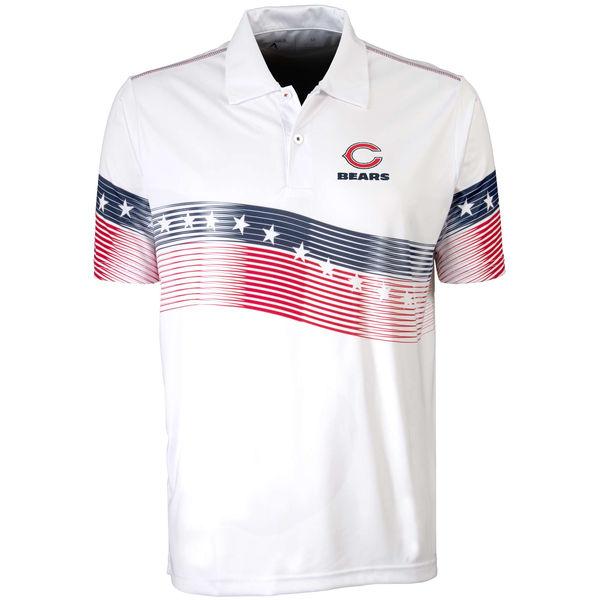 Antigua Chicago Bears White Patriot Polo Shirt