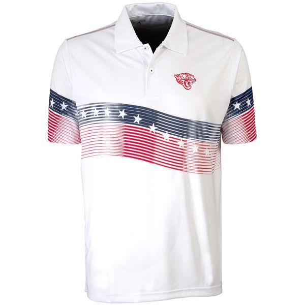 Antigua Jacksonville Jaguars White Patriot Polo Shirt