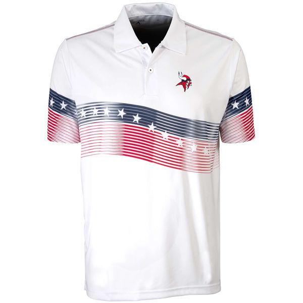 Antigua Minnesota Vikings White Patriot Polo Shirt