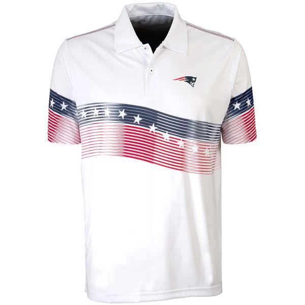 Antigua New England Patriots White Patriot Polo Shirt