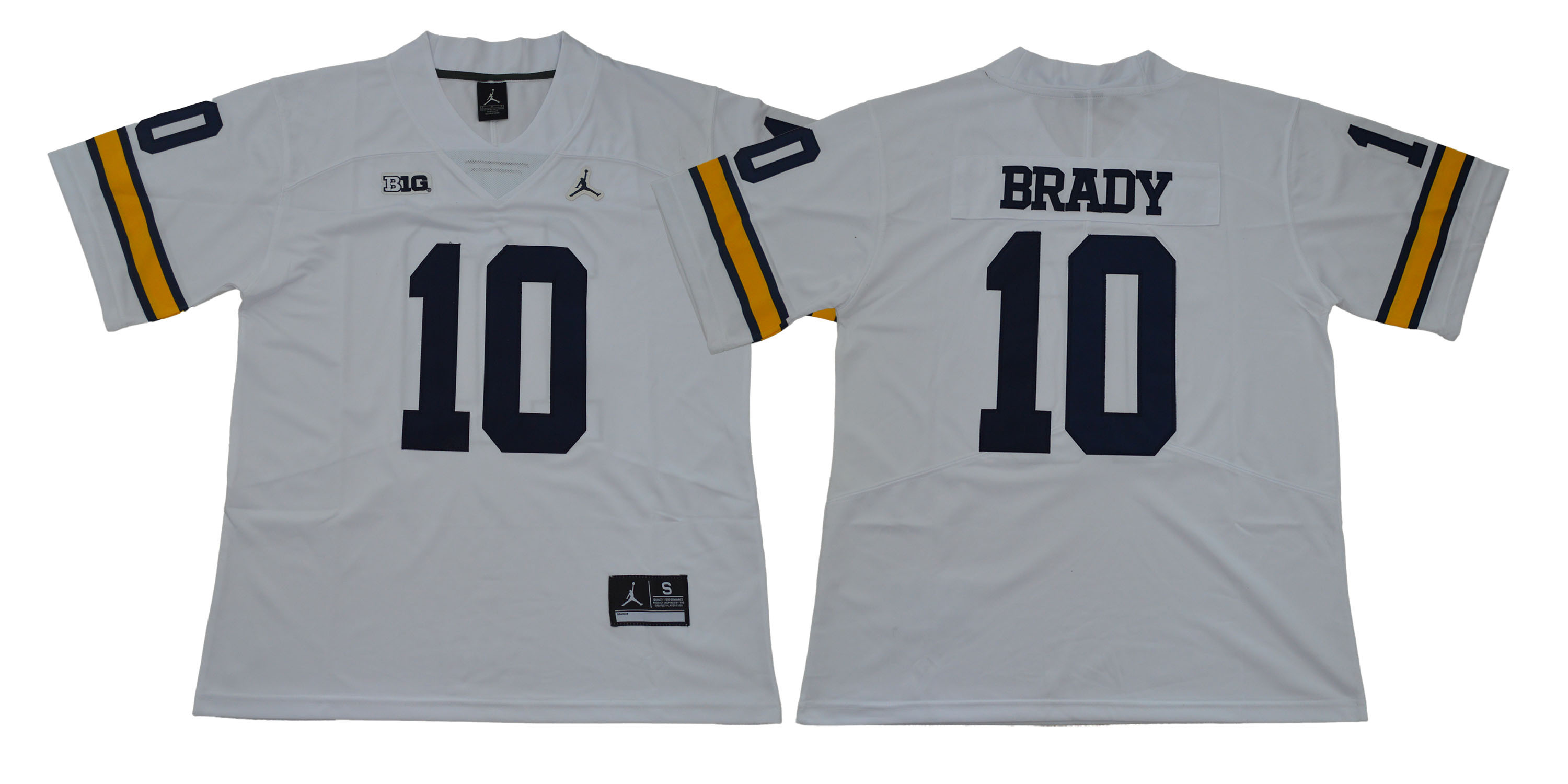 Michigan Wolverines 10 Tom Brady White College Football Jersey