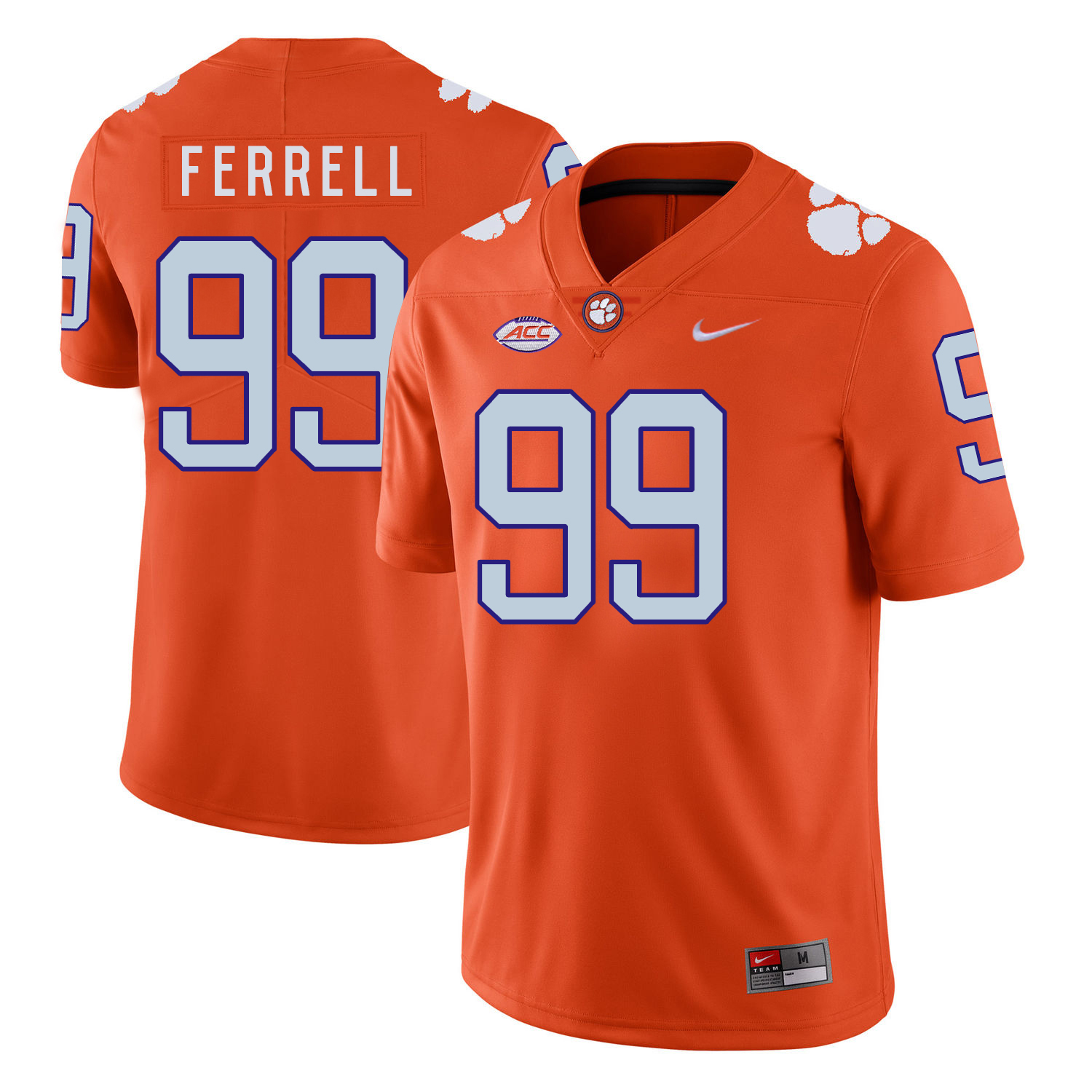 Clemson Tigers 99 Clelin Ferrell Orange Nike College Football Jersey