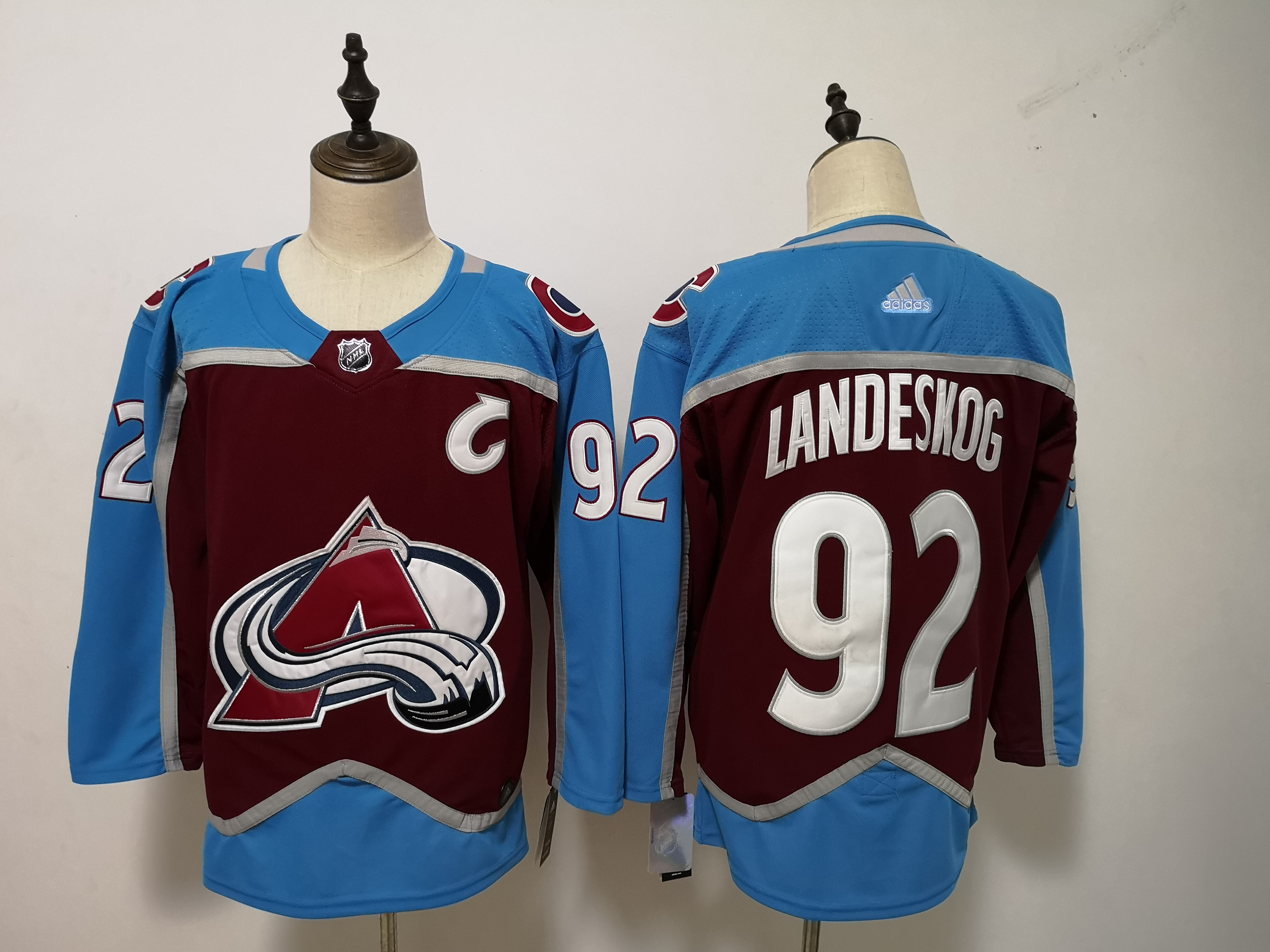 Avalanche 92 Gabriel Landeskog Burgundy Adidas Jersey
