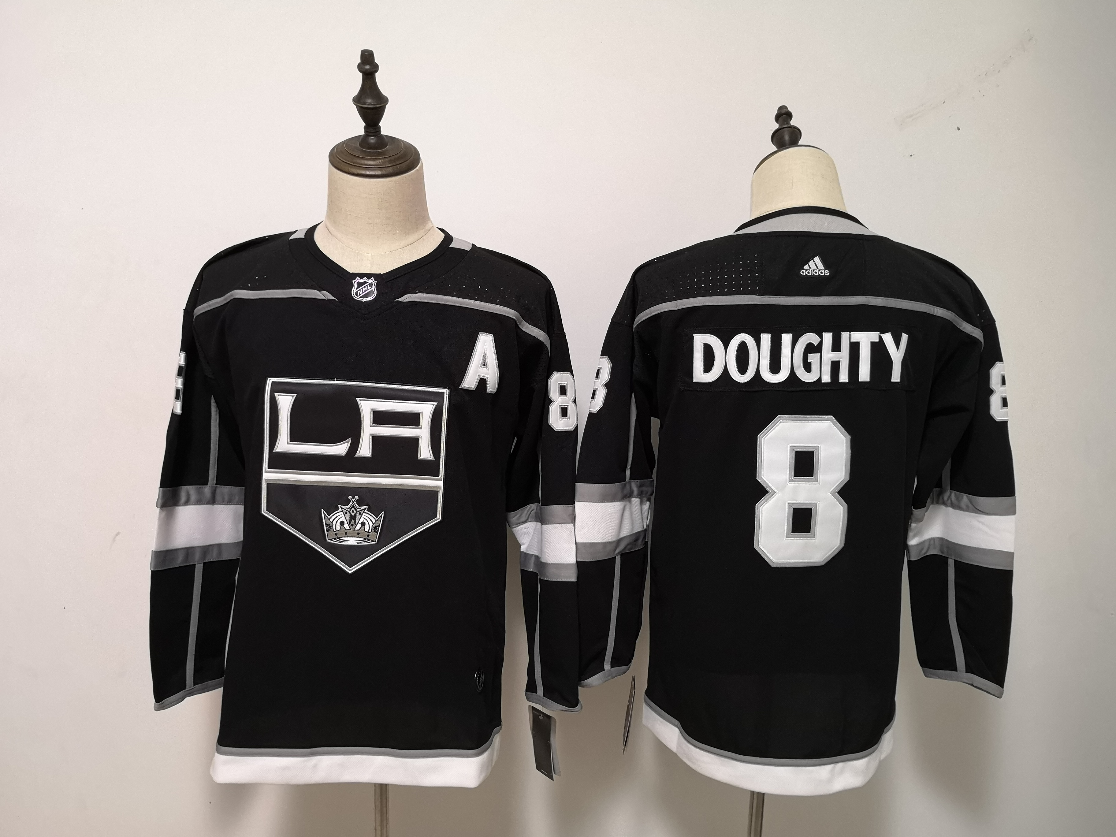 Kings 8 Drew Doughty Black Youth Adidas Jersey