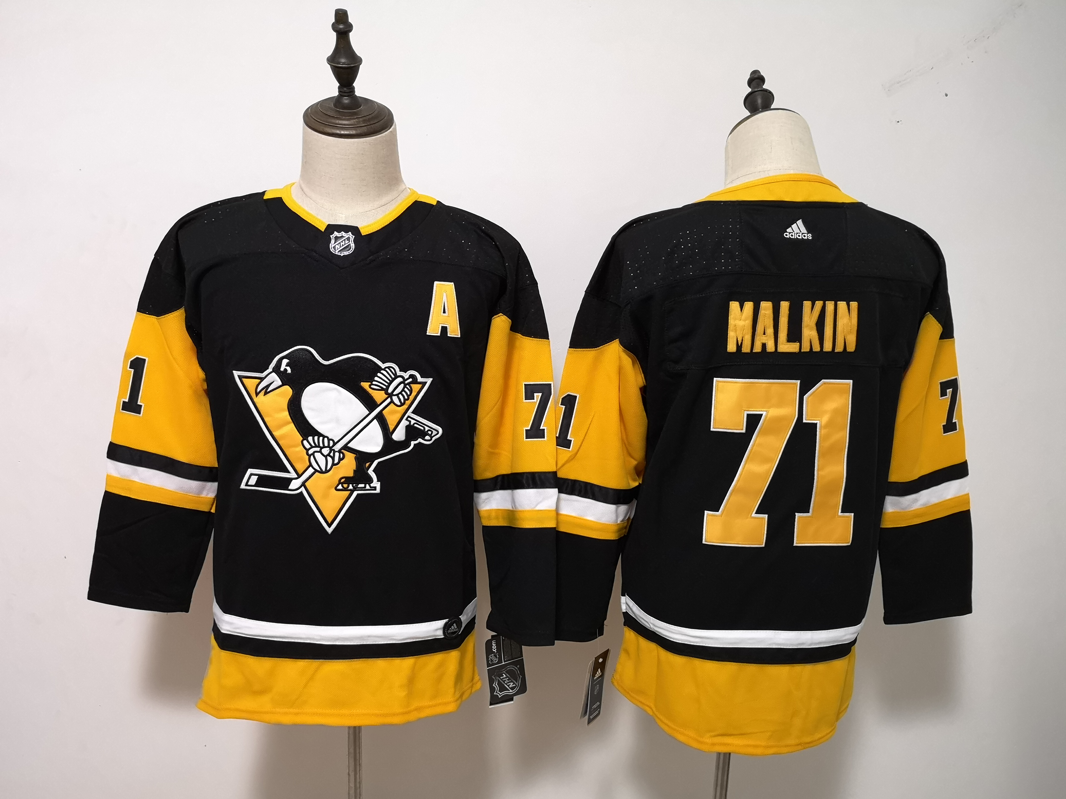 Penguins 71 Evgeni Malkin Black Youth Adidas Jersey