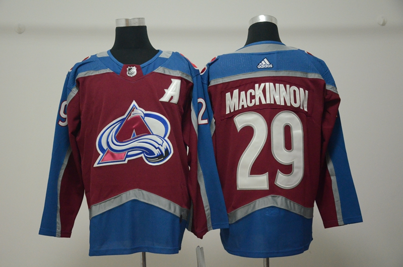 Avalanche 29 Nathan MacKinnon Burgundy With A Patch Adidas Jersey