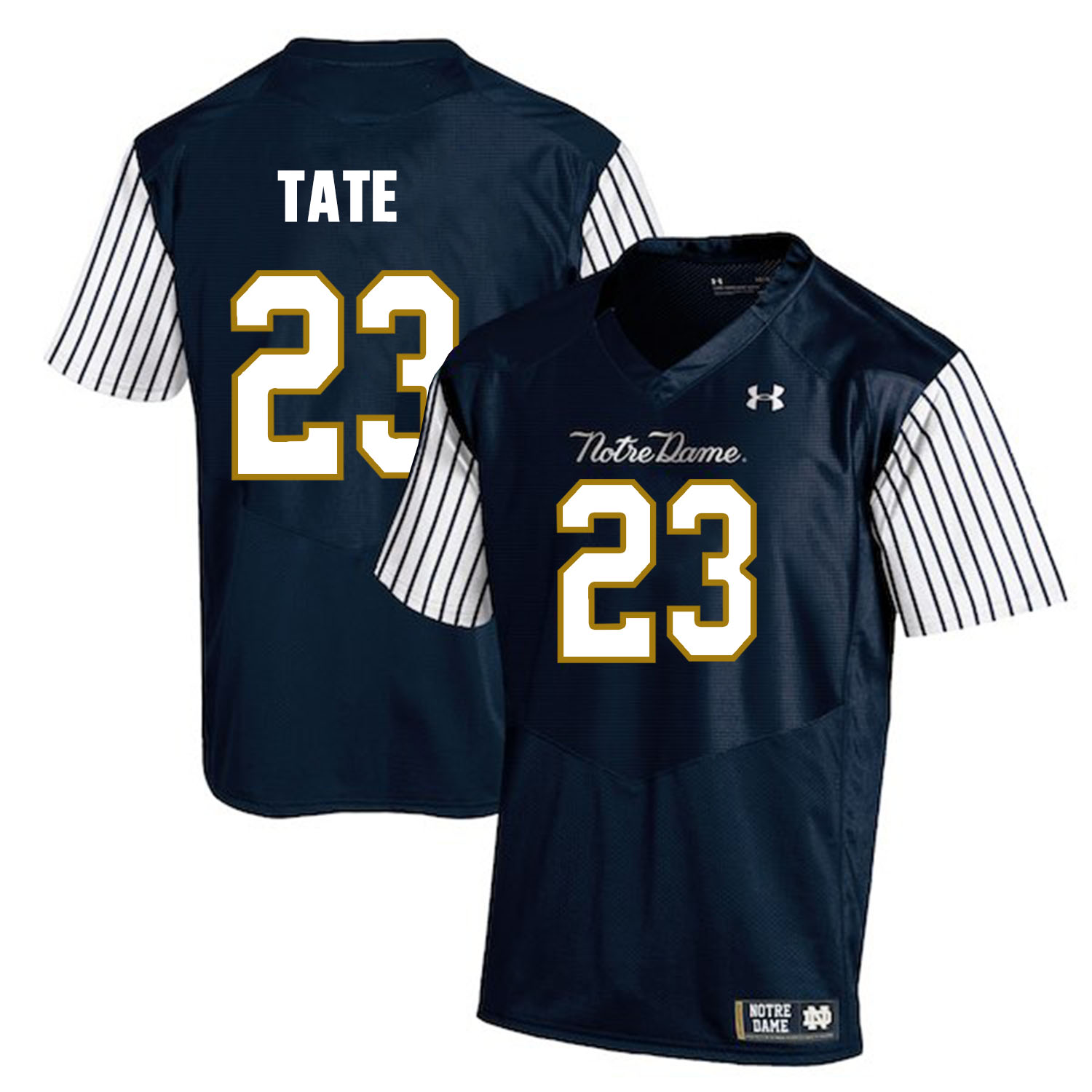 Notre Dame Fighting Irish 23 Golden Tate Navy College Football Jersey