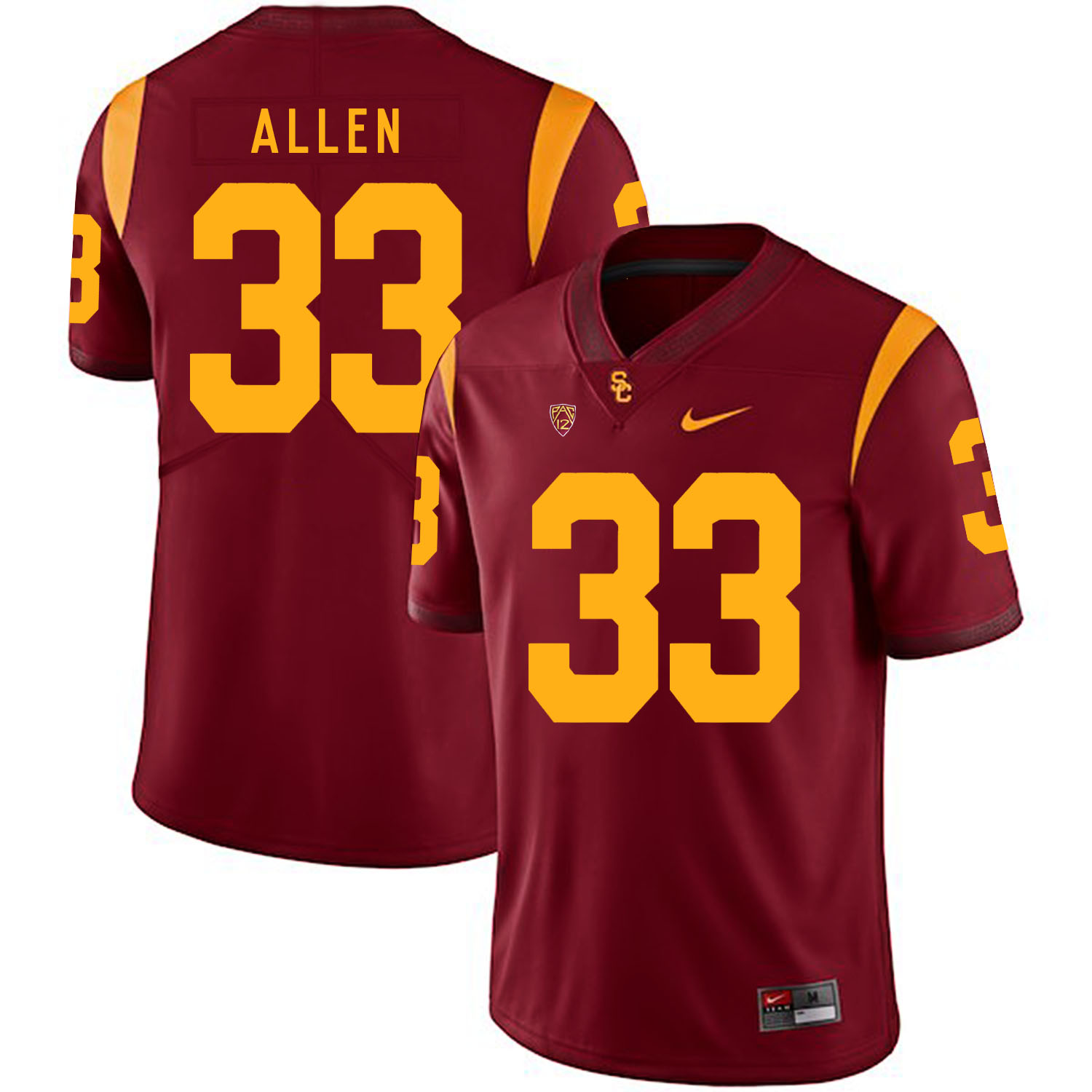USC Trojans 33 Marcus Allen Red College Football Jersey
