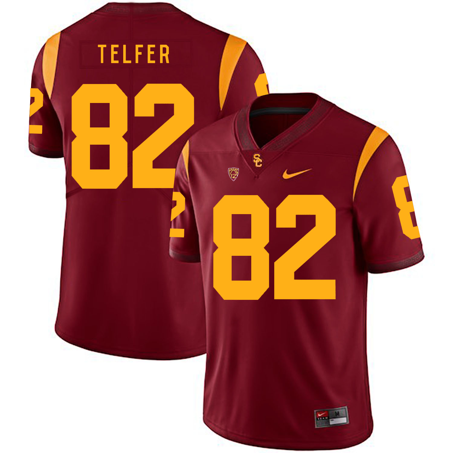 USC Trojans 82 Randall Telfer Red College Football Jersey