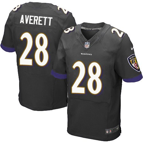 Nike Ravens 28 Anthony Averett Black Elite Jersey