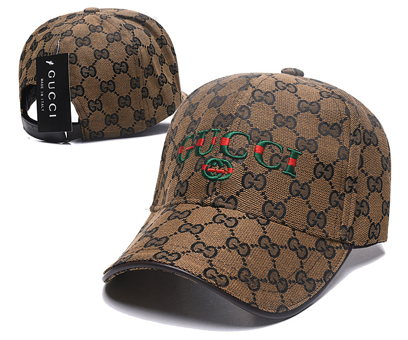 Gucci Logo White Fashion Peaked Adjustable Hat SG