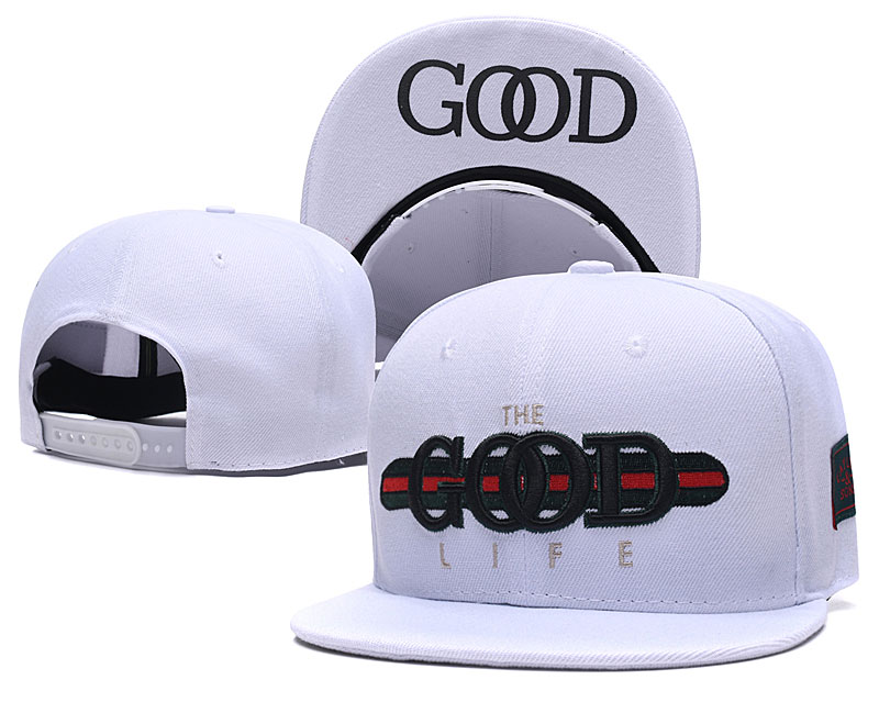 The Good Life White Fashion Adjustable Hat SG