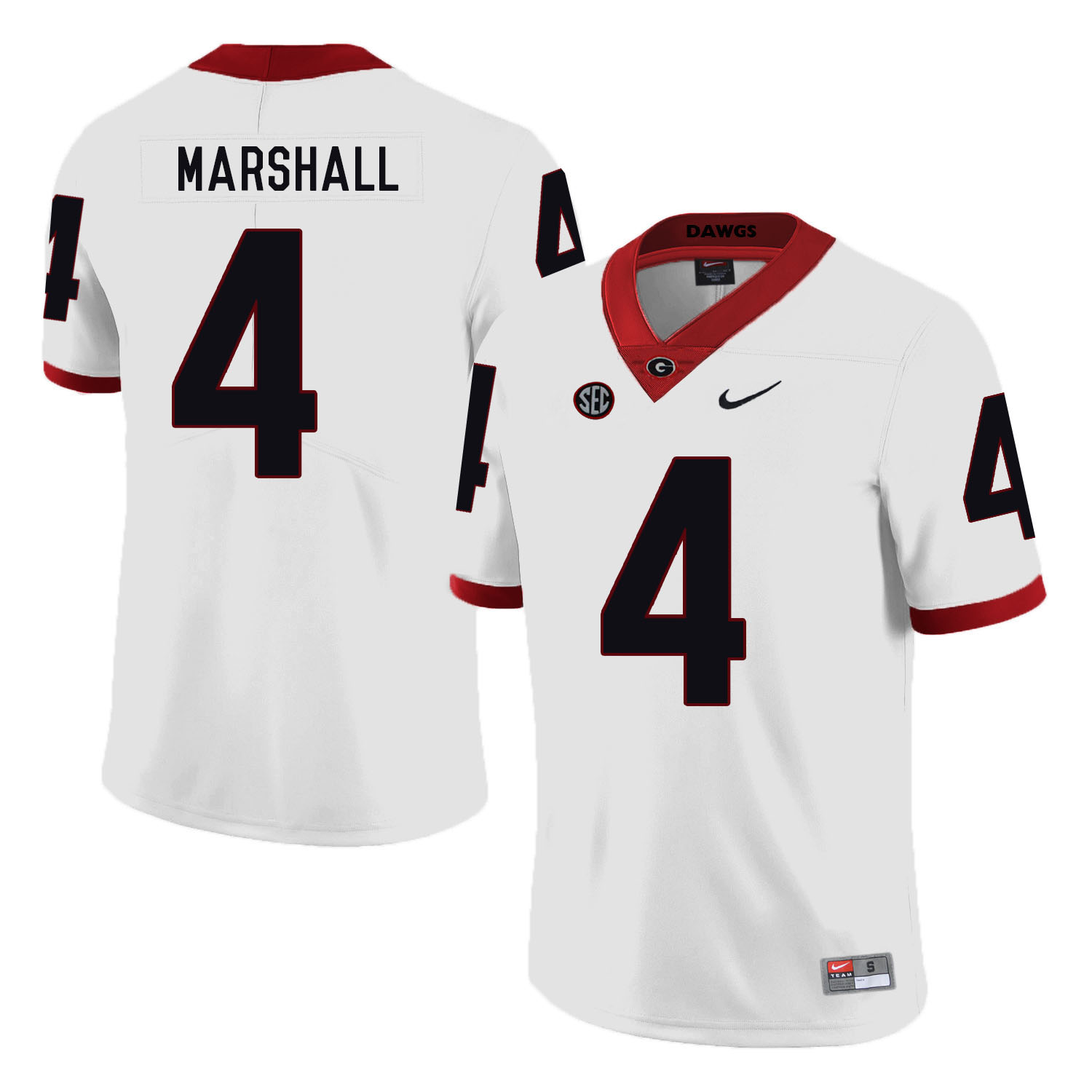 Georgia Bulldogs 4 Keith Marshall White Nike College Football Jersey