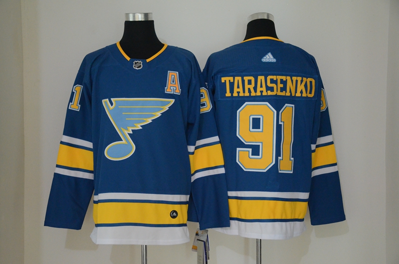 Blues 91 Vladimir Tarasenko Blue Alternate Adidas Jersey