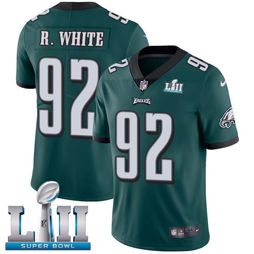 Nike Eagles 92 Reggie White Green 2018 Super Bowl LII Vapor Untouchable Limited Jersey
