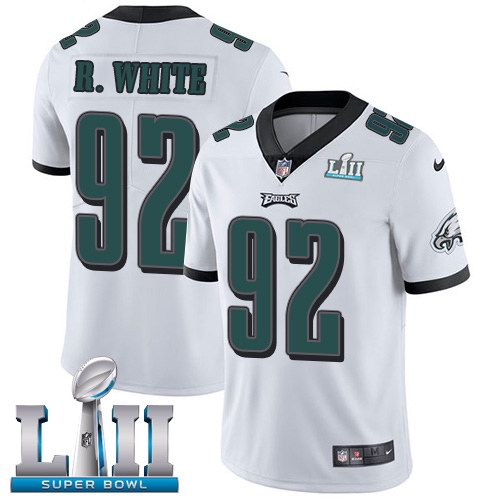 Nike Eagles 92 Reggie White White 2018 Super Bowl LII Vapor Untouchable Limited Jersey