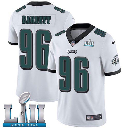 Nike Eagles 96 Derek Barnett White 2018 Super Bowl LII Vapor Untouchable Limited Jersey