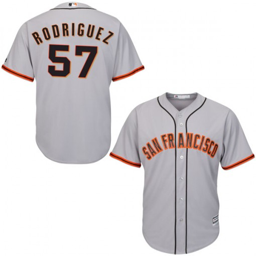 Giants 57 Derek Rodriguez Gray Cool Base Jersey